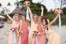 Bridesmaids ~ www.weddingsinthailand.com / You can always rely on your besties to bring a splash of colour to your day