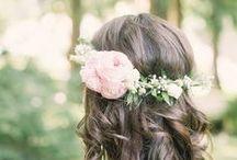 { Weddings }  hair flower ideas / pretty inspiration for hair flowers.  www.theflowerfarm.co.uk https://www.facebook.com/theflowerfarmflorist/