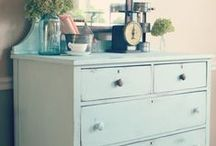 PAINTED FURNITURE / Inspiration for future Chalkworthy Antiquing Paint projects.