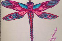 Colouring Book (Johanna Basford) / Yaptığım çalışmalar