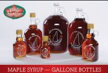 "Fuller's Pure NH Maple Syrup / Our 100% pure maple syrup is the ""Best in New Hampshire, Best in the World."" The great taste and quality are a result of good soil, pure water, state-of-the-art equipment, and our constant attention to detail.   It received New Hampshire's Carlisle Trophy for best in the state and named best in the world by the North American Maple Syrup Council. Get the best -- get Fuller's Sugarhouse pure maple syrup.  / by Fuller's Sugarhouse"