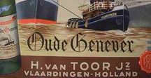 Genever ads - The Netherlands / The distilling of Genever in The Netherlands goes way back in history and so do a lot of these beautiful ads!