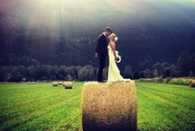 rustic wedding / All things country wedding; inspiration for the bride in boots.