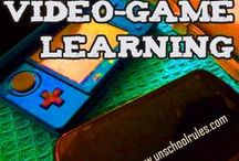Video games and learning / I'm passionate about the role of video games in education, learning through video games and gamification theory, so gaming is naturally a big part of our family's homeschooling experience, too. Whether you're a gaming family or not, there are some cool reads here. / by Joan Concilio
