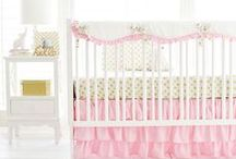 Gold Baby Crib Nursery & Inspiration / A nursery begins with sweet crib bedding!  If gold is what you are on the hunt for, rest assured we have the perfect gold nursery design for you. From coordinating gold changing pad covers, curtain panels, throw pillows and other room decor, the perfect gold crib bedding can become the focal point of your baby's nursery. See more at http://www.newarrivalsinc.com/Gold-Baby-Bedding_c_559.html.