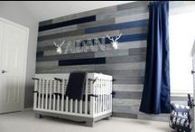 Navy Baby Bedding & Nursery Inspiration / Navy crib bedding can be gender neutral or designed specifically for your sweet baby boy or girl! Navy is sure to give your nursery a fresh, chic feel for your new baby! Navy is timeless and traditional when it is paired with red or white for a baby boy's nursery! For a bright and fun baby girl's nursery pair navy baby bedding with pops of corals and blush tones!  See more at http://www.newarrivalsinc.com/Blue-Baby-Bedding_c_554.html
