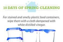 Spring Cleaning with Vinegar / All-natural cleaning tips and environmentally friendly ways to clean up your home.