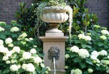 Fountain and water feature ideas / I want a fountain for my garden. These are some ideas that I like.