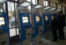 Решение для железнодорожного транспорта / Турецкие государственные железные дороги - киоск по продаже билетов.