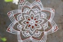 FREEHAND KOLAM / It is a collection of freehand kolams with kavi