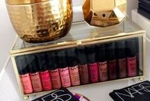 Beauty storage / Organising your beauty collection,ideas for storage units/shelving.Keeping your makeup neat and tidy.