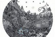Mandalas Zentangles Doodles / by Stph. Rolland