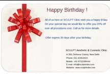 Special deals and offers / On our birthday anniversary, we are offering 20 % off on all procedures.