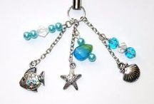 Charms / Cell phone charms, key chains, rear view mirror and purse adornments.