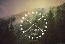 Hello Months! / I made all of the photos for welcoming new months..