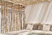 Living space design / Inspirational colors, textiles, texturer, atmosphere and eclectic mixes