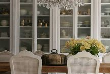 Interiors | Dining Room / Wish - french - Farm house dinning table with more formal french dinning chairs
