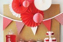 Rote Party Ideen / Inspiration und Ideen für eine rote Motto Party!