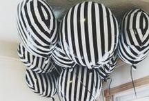 Schwarz-weiße Party Ideen / Ideen und Inspiration für eine monochrome Party!