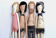 Plush Dolls and Stuffed Toys / Stuffies, loveys and handmade dolls.