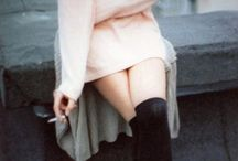 would like to wear / 90's kind of clothes // black clothing // pastel colors // shiny dresses // flatform shoes  / by Stella Maria