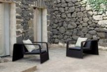 Outdoor armchairs, easy chairs