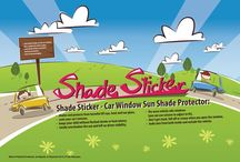 Shade Sticker, car window sun shade protector / Car window sun shade protector: - shades and protects from harmful UV rays, heat and sun glare - cools your car's interior, - keeps your child without flushed cheeks or heat misery, - totally overshadow the sun and left no driver visibility, - fits most vehicle side windows (you can use scissors to adjust to fit), - don't get stuck, fall off or crease when you open the window, - looks nice from both inside and outside the vehicle.