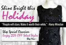 "Shine Bright This Holiday / ""People Will Stare. Make it Worth Their While."" - Harry Winston"