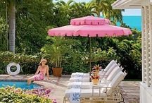 Pink for Your Outdoor Living Space with CushyChic Slipcovers / Don't toss your dirty or faded outdoor cushions; refresh them affordably and responsibly with CushyChic Outdoor Slipcovers.