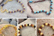 Collier ambre bébé / Collier ambre bébé, bracelet ambre bébé, bijoux d'ambre de la Baltique et pierres fines