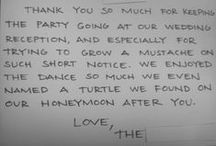 Thank You Cards from our Clients / We feel like we're the best DJ company out there.  But don't take our word for it.  Look what our clients had to say.