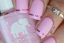 pinkish nails
