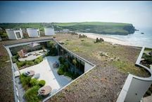 The Scarlet Hotel / The Scarlet is a luxury eco hotel nestled into the cliff above Mawgan Porth beach, North Cornwall