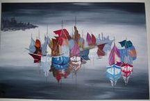 Mo et ses tableaux / Mo est une véritable artiste peintre, demandez lui de vous faire la toile de vos rêves, elle saura vous la faire. Elle est aussi sympathique que douée. Son blog :  http://blackmercedes.over-blog.com/