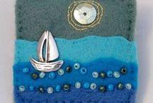 Bijoux - feltre, zip, tissou