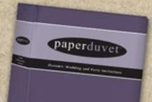Paper Duvet Invitations / Paper Duvet Wedding Invitations 35% off retail! / www.invitationdiscounters.com