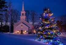 CHRISTMAS TREES / GARLAND / SWAGS / WREATHS / The unfailing love of the Lord fills the earth. Psalm 33:5 / by Sherry Mathis