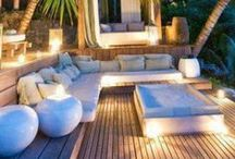 Exterior Lighting and Furniture / Summer is almost here!! Enhance your outdoor living space with these beautiful outdoor furniture and lighting features