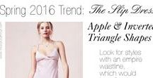 Inverted Triangle Shape / Outfits & clothing that are flattering for the inverted triangle body shape