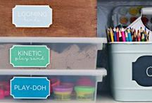 Organize the Home / Free and DIY organizational ideas for families - it is possible to keep tidy with kids under foot!