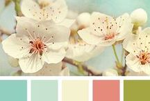 Spring Palette / A compendium of springtime inspired colours specially for our home.Sugar pink, baby blue, pale turquoise, dove grey and more. Lets fit in some lighting too!