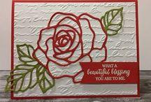 Rose thinlit die cards