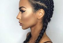 Hairstyle ideas / Braids.  New hairstyles. Coloured hair.