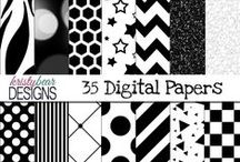 {Digital Paper} KristyBear Designs / This board includes some of the digital papers that I have created. All of these digital papers are available for commercial use and credit is not required.