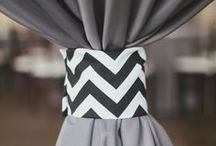 Tent: Gray & White Inspiration / Gray and White are very classic colors that are very elegant. You can use just these two colors or if you want to bring in another color it will really pop off the gray and white.