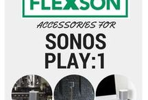 SONOS PLAY:1 Accessories / All the Flexson accessories for the SONOS PLAY:1. Wall mounts, desk stands, floor stands, ceiling mounts and more