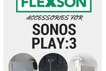 SONOS PLAY:3 Accessories / All the Flexson accessories for the SONOS PLAY:1. Wall mounts, desk stands, floor stands, ceiling mounts and more