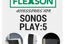 SONOS PLAY:5 Accessories / All the Flexson accessories for the SONOS PLAY:5. Wall mounts, desk stands, floor stands, ceiling mounts and more