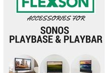 SONOS PLAYBASE/PLAYBAR Accessories / All the Flexson accessories for the SONOS PLAYBASE and PLAYBAR. TV Stands, brackets and attachments to get the most from your SONOS cinema setup.