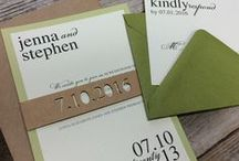 Fall Wedding Invitations and Ideas / Invitations, ornaments, paper straws and more for a fall themed wedding